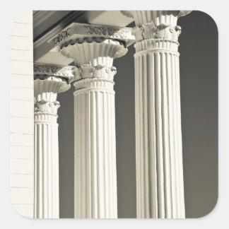 USA, Alabama, Montgomery. Alabama State Capitol, Square Sticker