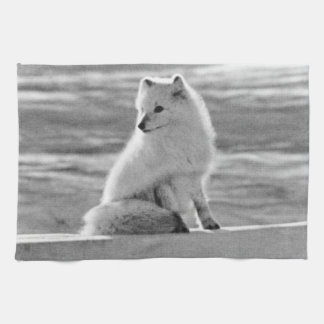 USA Alaska Arctic fox 1970 Hand Towel