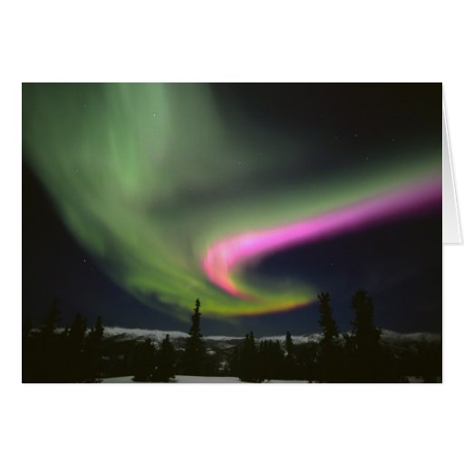 USA, Alaska, Chena Hot Springs. Aurora 2 Card