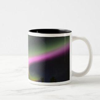 USA, Alaska, Chena Hot Springs. Aurora 2 Two-Tone Coffee Mug