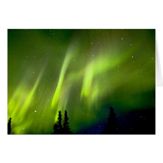 USA, Alaska, Chena Hot Springs. Aurora 3 Card