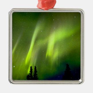 USA, Alaska, Chena Hot Springs. Aurora 3 Christmas Tree Ornament