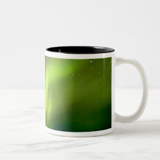 USA, Alaska, Chena Hot Springs. Aurora 3 Two-Tone Coffee Mug