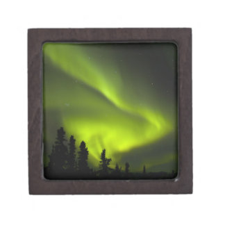 USA, Alaska, Chena Hot Springs. Aurora Borealis 2 Premium Jewelry Box