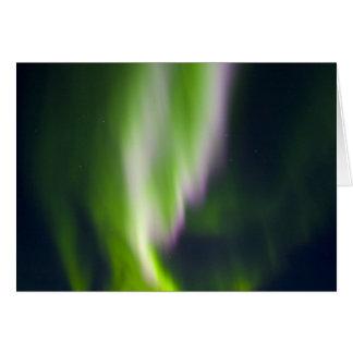 USA, Alaska, Chena Hot Springs. Aurora Borealis Greeting Cards