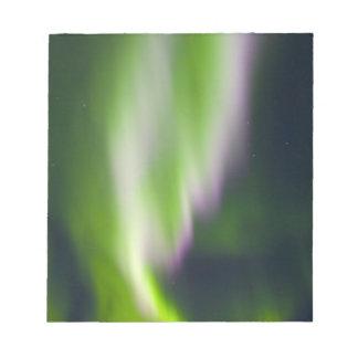 USA, Alaska, Chena Hot Springs. Aurora Borealis Scratch Pads