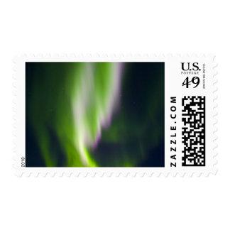USA, Alaska, Chena Hot Springs. Aurora Borealis Postage Stamps