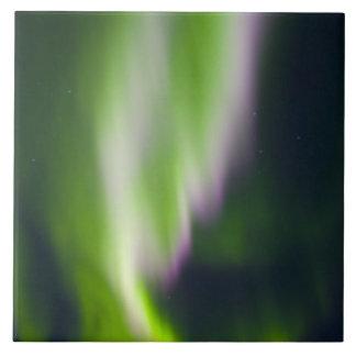 USA, Alaska, Chena Hot Springs. Aurora Borealis Tiles