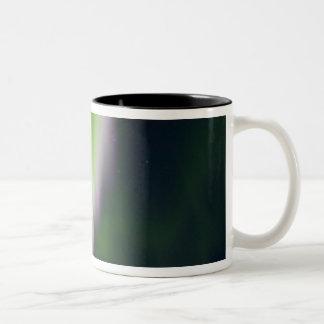 USA, Alaska, Chena Hot Springs. Aurora Borealis Two-Tone Coffee Mug
