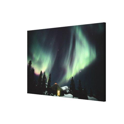 USA, Alaska, Chena Hot Springs. Aurora Canvas Print