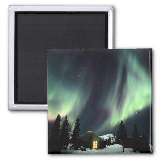 USA, Alaska, Chena Hot Springs. Aurora Magnet