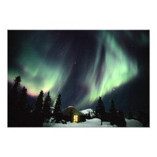 USA, Alaska, Chena Hot Springs. Aurora Photo Print