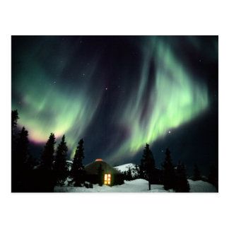 USA, Alaska, Chena Hot Springs. Aurora Postcard