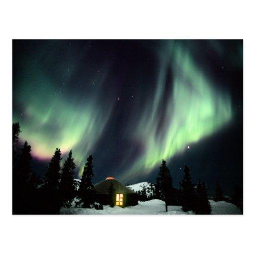 USA, Alaska, Chena Hot Springs. Aurora Post Card