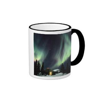 USA, Alaska, Chena Hot Springs. Aurora Ringer Mug
