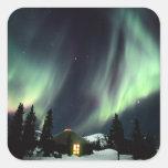USA, Alaska, Chena Hot Springs. Aurora Stickers