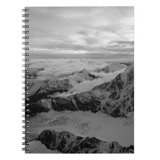 USA, Alaska, Denali National Park, Aerial view 2 Spiral Note Book