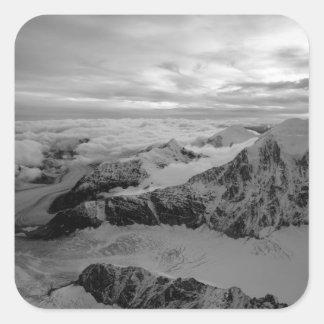 USA, Alaska, Denali National Park, Aerial view 2 Square Sticker