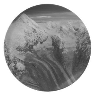 USA, Alaska, Denali National Park, Aerial view 3 Melamine Plate