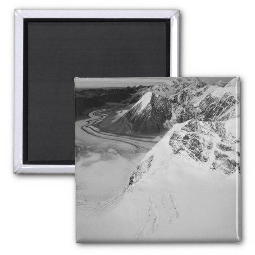 USA, Alaska, Denali National Park, Aerial view Magnets