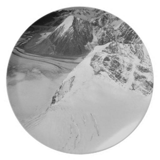 USA, Alaska, Denali National Park, Aerial view Dinner Plates