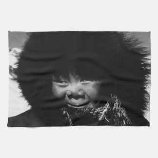 USA Alaska eskimo child 1970 Kitchen Towel