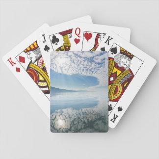 USA, Alaska, Freshwater Bay. Clouds Reflected Playing Cards