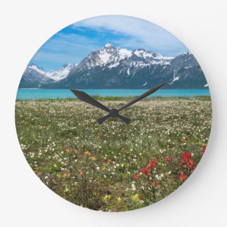 USA, Alaska, Glacier Bay National Park 2 Large Clock