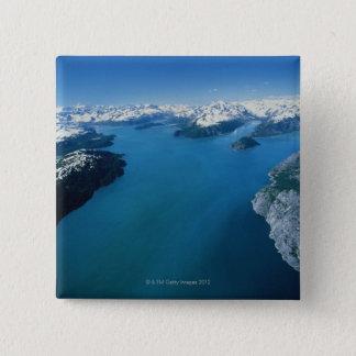 USA,Alaska,Glacier Bay National Park,aerial view Pinback Button