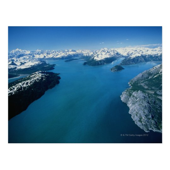 USA,Alaska,Glacier Bay National Park,aerial view Postcard