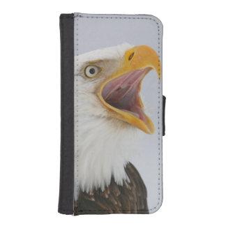 USA, Alaska, Homer. Bald eagle screaming. Credit Wallet Phone Case For iPhone SE/5/5s