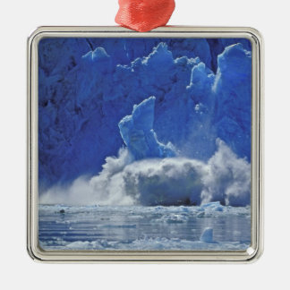 USA, Alaska, Juneau. Part of South Sawyer Metal Ornament