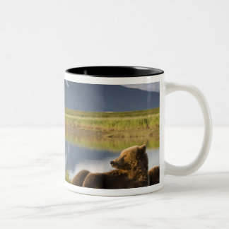 USA, Alaska, Katmai National Park, Brown Bears 2 Two-Tone Coffee Mug