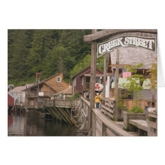 USA, Alaska, Ketchikan, Creek Street, downtown Card
