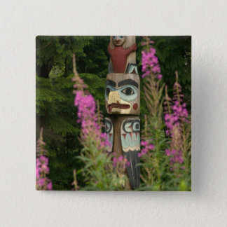 USA, Alaska, Ketchikan, Totem Bight State Button