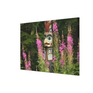 USA, Alaska, Ketchikan, Totem Bight State Canvas Print
