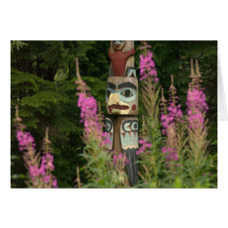 USA, Alaska, Ketchikan, Totem Bight State Card