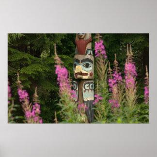 USA, Alaska, Ketchikan, Totem Bight State Poster
