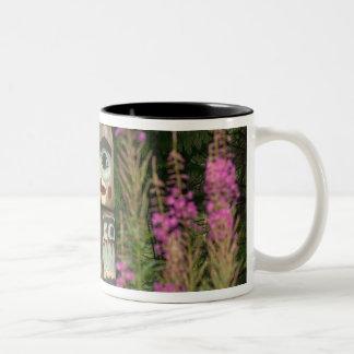 USA, Alaska, Ketchikan, Totem Bight State Two-Tone Coffee Mug
