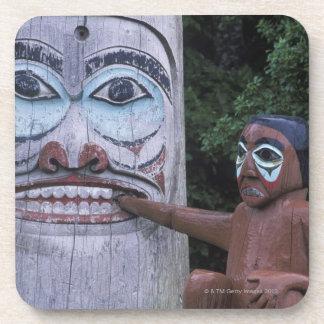 USA, Alaska, Ketchikan, Totem Heritage Center, Beverage Coaster