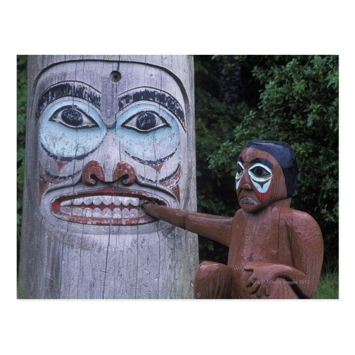 USA, Alaska, Ketchikan, Totem Heritage Center, Postcard
