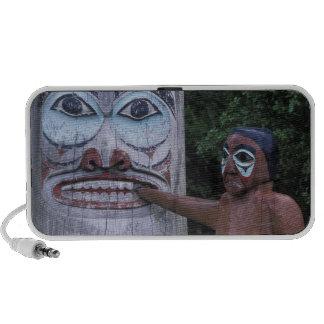 USA, Alaska, Ketchikan, Totem Heritage Center, Notebook Speaker