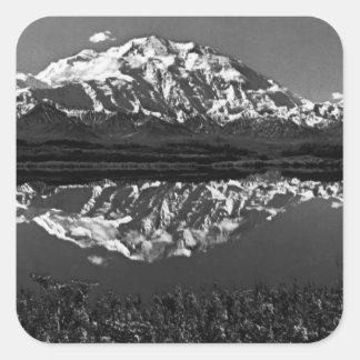 USA Alaska magnificent mt mckinley 1970 Square Sticker