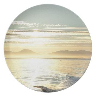 USA, Alaska, Southeast near Ketchikan, sunset. Party Plate
