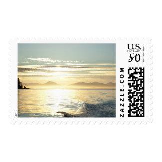 USA, Alaska, Southeast near Ketchikan, sunset. Postage