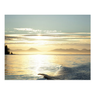 USA, Alaska, Southeast near Ketchikan, sunset. Postcard