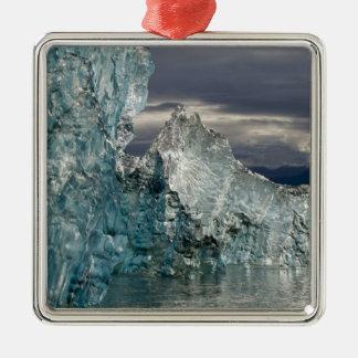 USA, Alaska, Tongass National Forest, Tracy 3 Square Metal Christmas Ornament