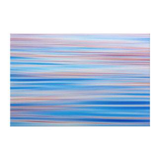 USA, Alaska. Water Abstract At Sunset Canvas Print