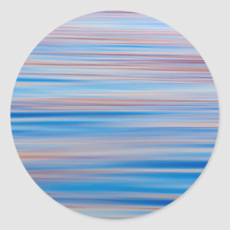USA, Alaska. Water Abstract At Sunset Round Stickers