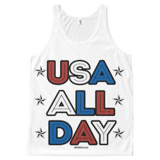 USA ALL DAY - Politiclothes Humor -.png All-Over Print Tank Top